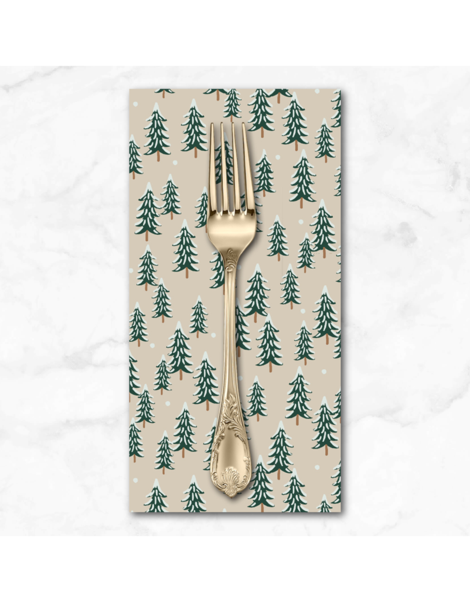 Christmas Collection Holiday Classics, Fir Trees in Linen, Dinner Napkin