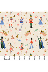 Rifle Paper Co. Holiday Classics, Land of Sweets in Cream with Metallic, Fabric Half-Yards