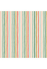 Rifle Paper Co. Holiday Classics, Festive Stripe in Multi with Metallic, Fabric Half-Yards