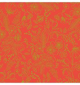 Rifle Paper Co. Holiday Classics, Colette in Red with Metallic, Fabric Half-Yards