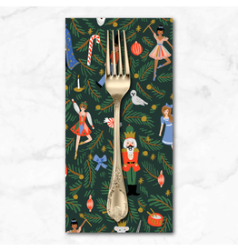 Christmas Collection Holiday Classics, Nutcracker in Evergreen, Dinner Napkin