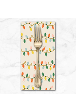 Christmas Collection Holiday Classics, Holiday Lights in Cream, Dinner Napkin