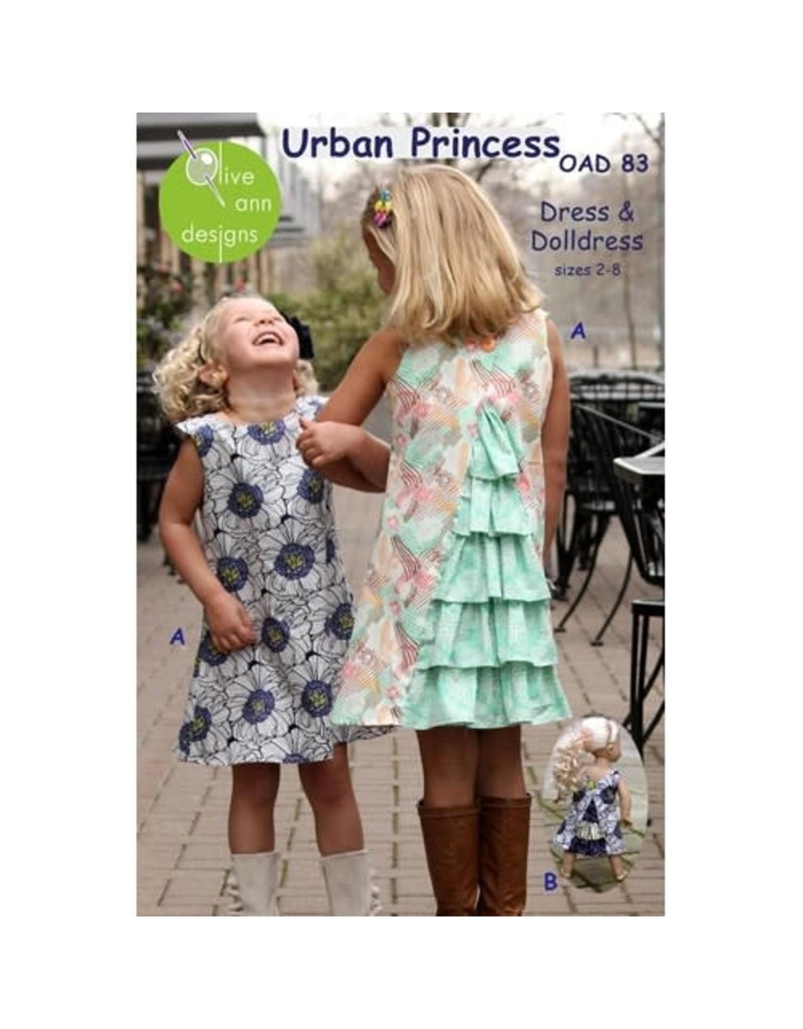 Picking Daisies Urban Princess Dress Pattern for Girls and Dolls