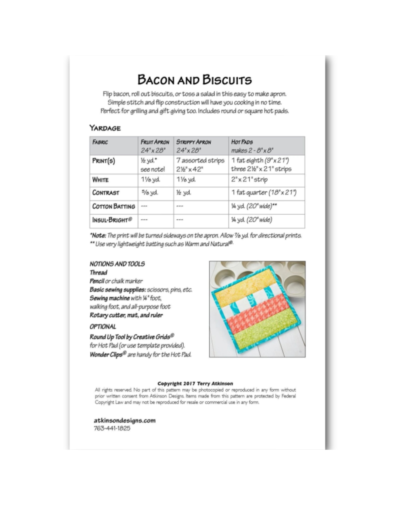 Picking Daisies Bacon and Biscuits Apron Pattern
