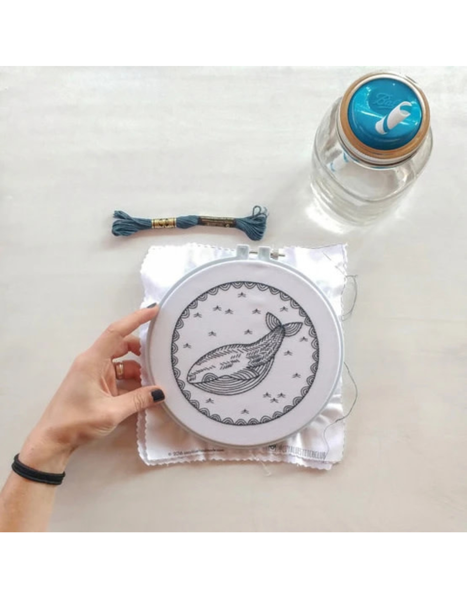 cozyblue Whale of a Time Embroidery Kit from cozyblue