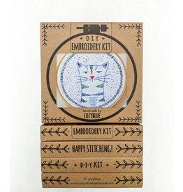 cozyblue Nigel Nine Lives Embroidery Kit from cozyblue