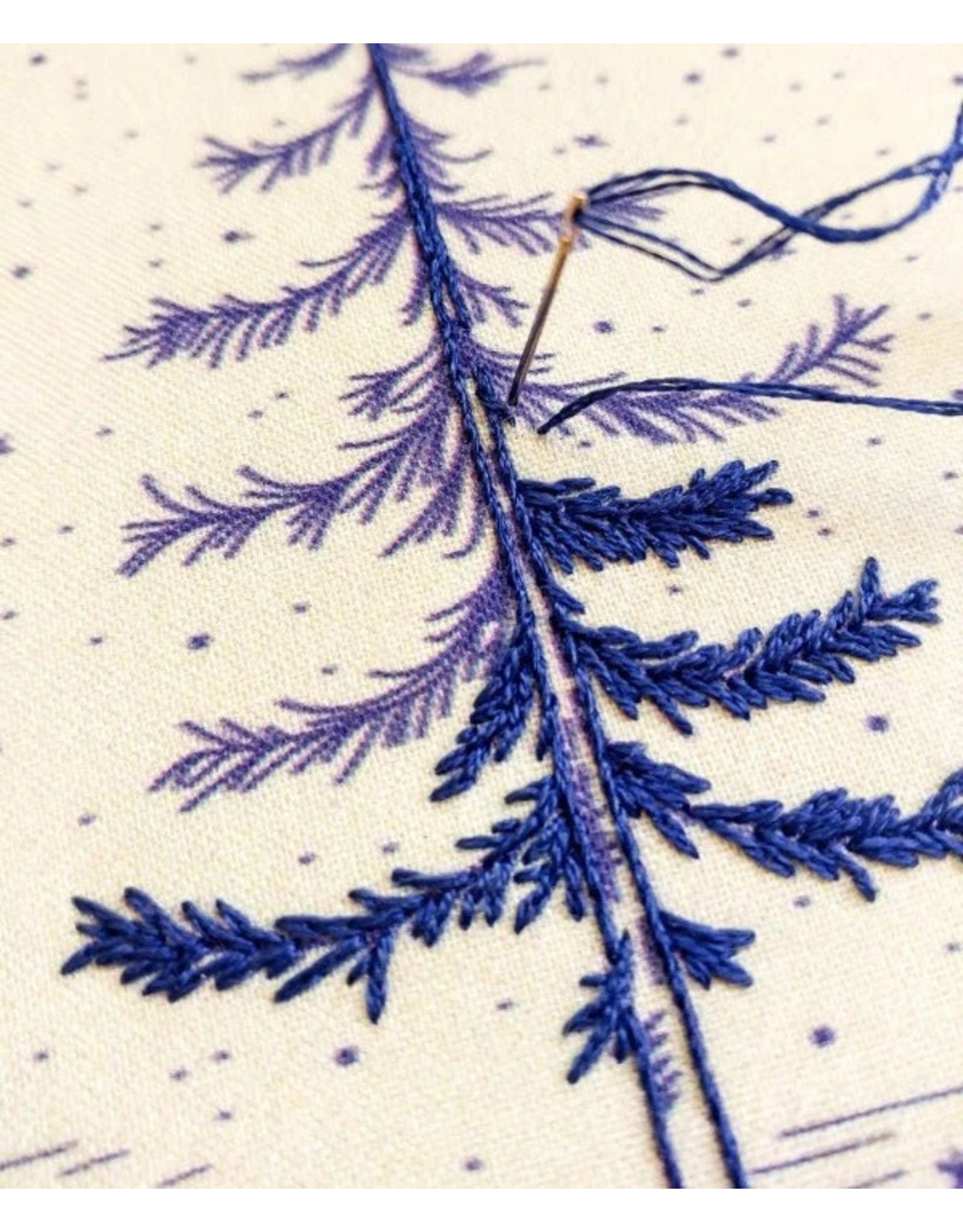 cozyblue COMING MID OCT.-Moonlight Pine Embroidery Kit from cozyblue