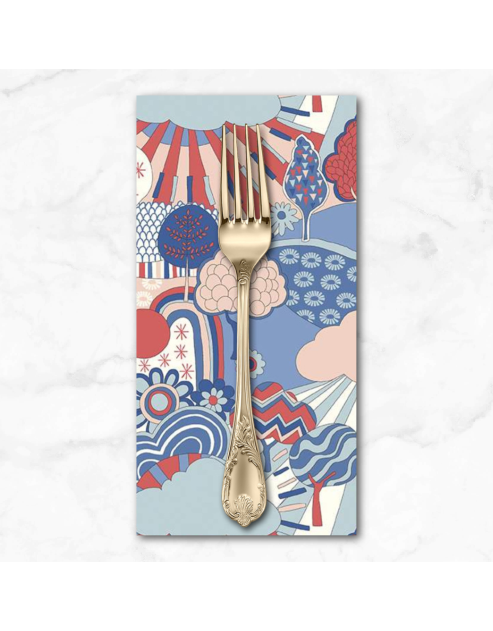 PD's Liberty of London Collection Liberty The Carnaby Collection, Sunny Afternoon in Retro Indigo, Dinner Napkin
