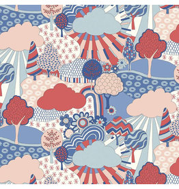 Liberty Fabrics Liberty The Carnaby Collection, Sunny Afternoon in Retro Indigo, Fabric Half-Yards