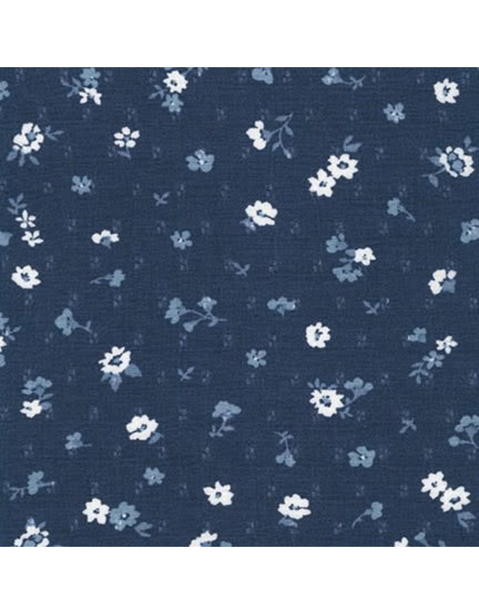 Robert Kaufman Rayon, Sunset Studio Collection, Yoryu Jacquard in Denim Blue, Fabric Half-Yards