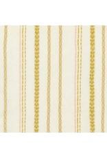 Robert Kaufman Gauze, Athena Yarn Dyed in Cream, Fabric Half-Yards