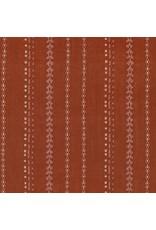 Robert Kaufman Gauze, Athena Yarn Dyed in Sienna, Fabric Half-Yards
