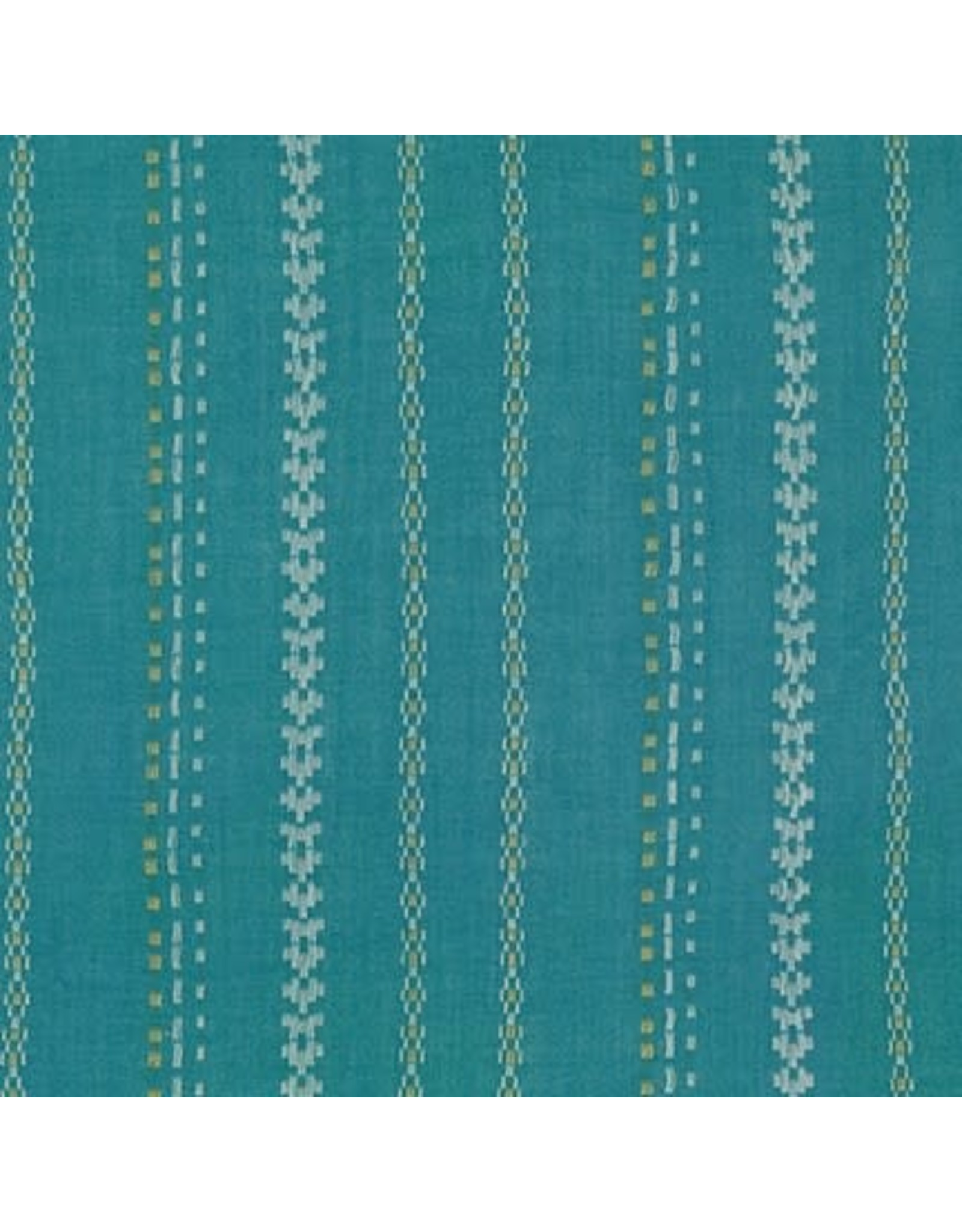 Robert Kaufman Gauze, Athena Yarn Dyed in Teal, Fabric Half-Yards