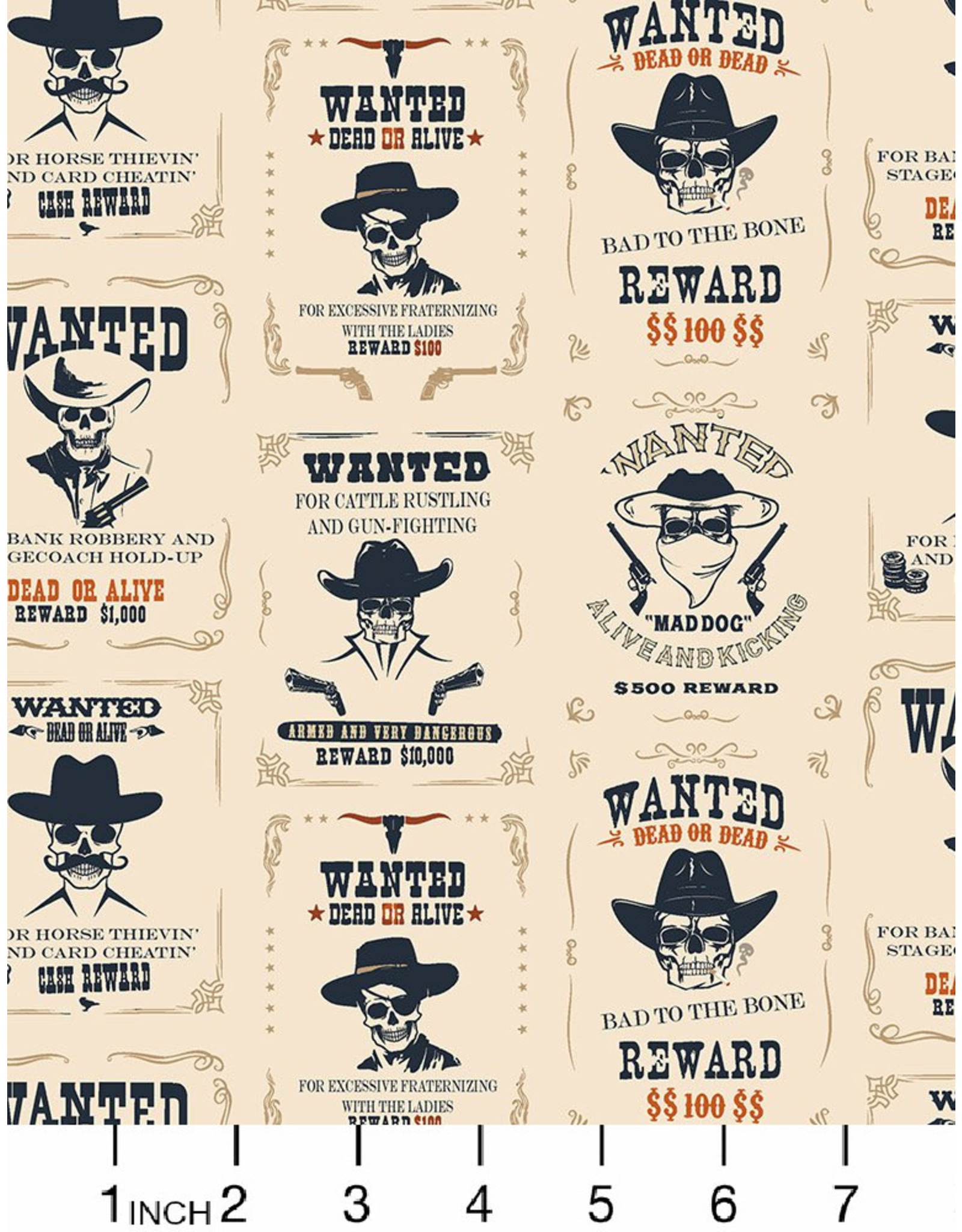 PD's Dear Stella Collection Wanted, Wanted in Gardenia, Dinner Napkin