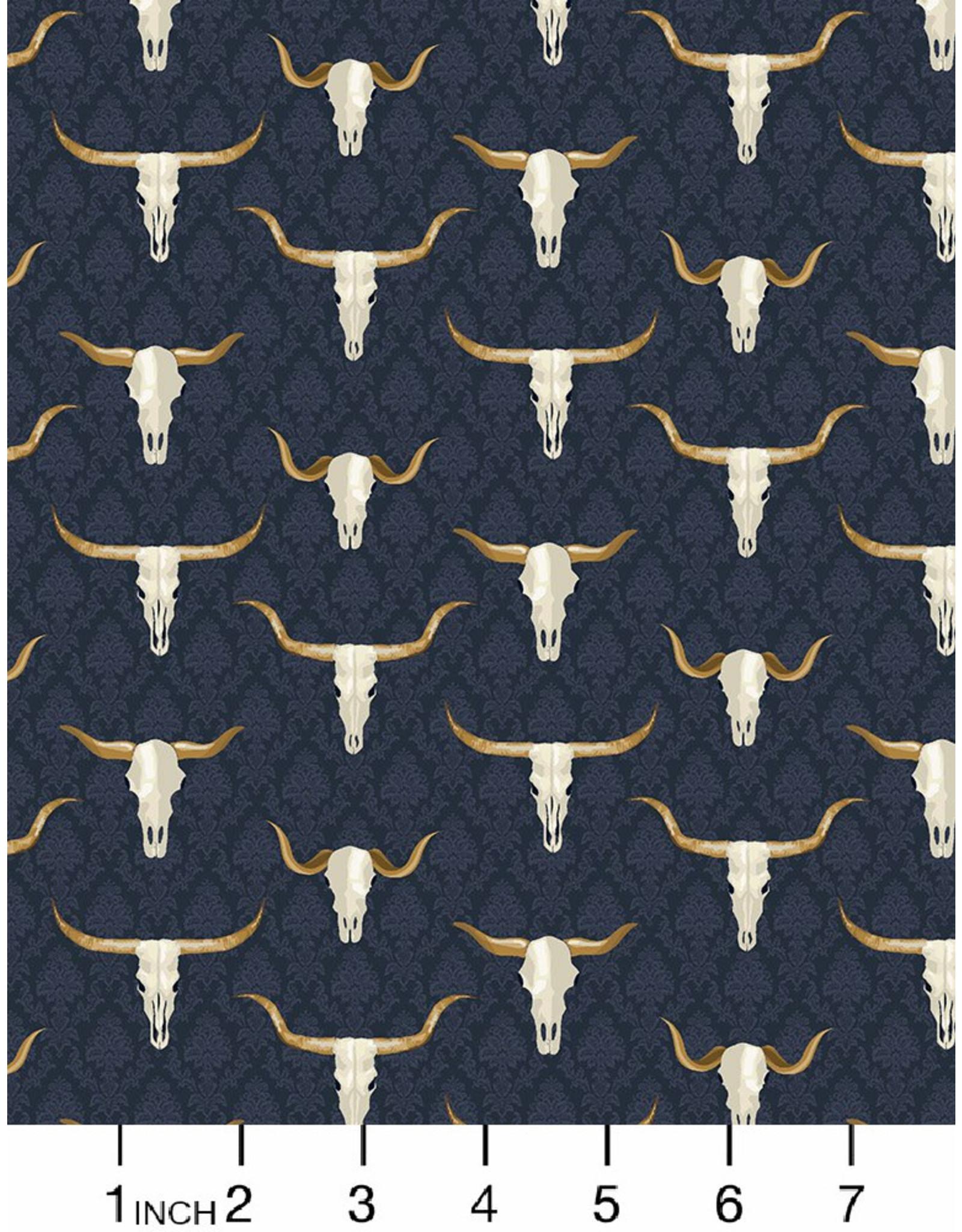 Dear Stella Wanted, Western Skulls in Multi, Fabric Half-Yards