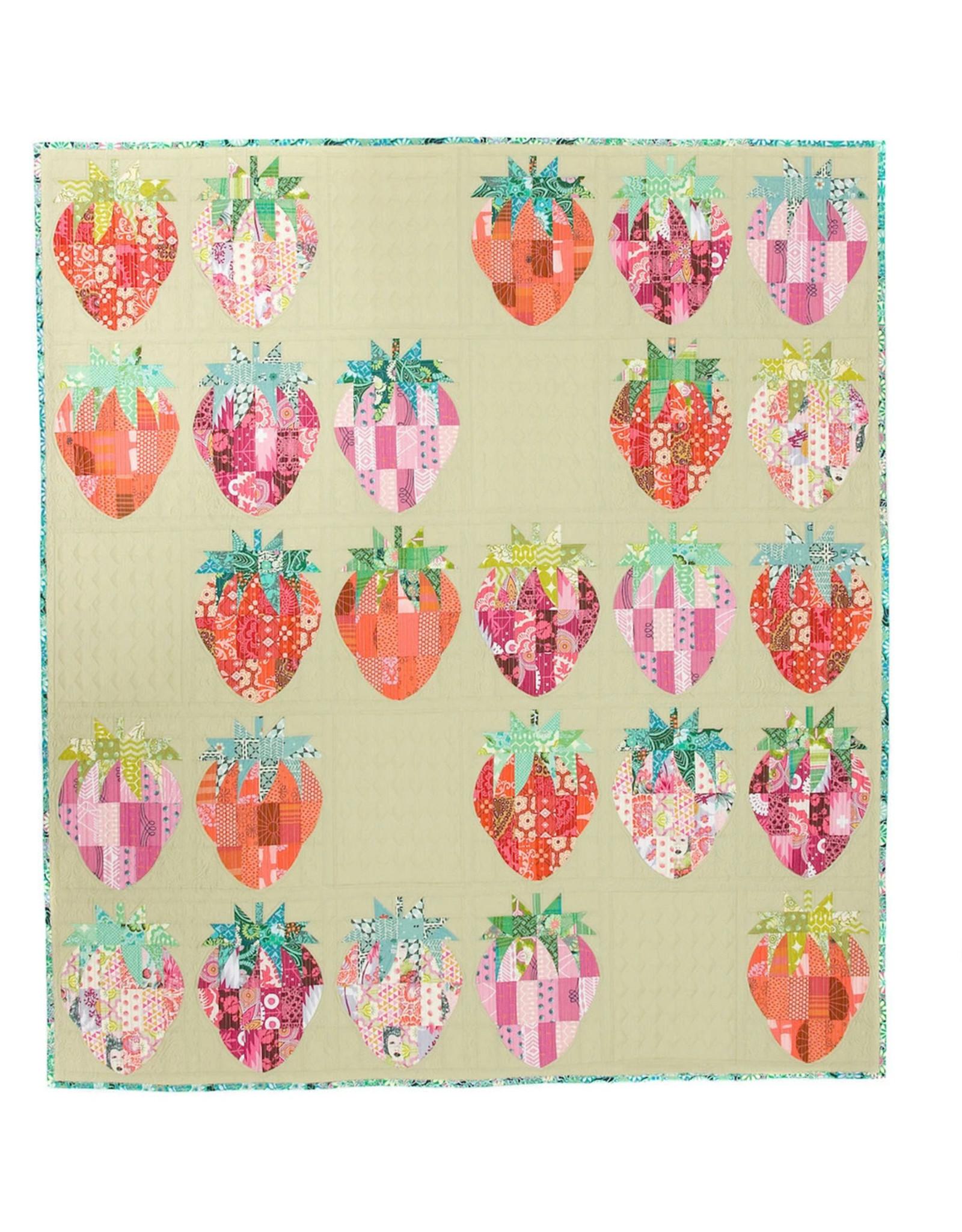 Sew Kind of Wonderful Mod Strawberries Quilt Pattern