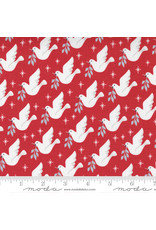 Christmas Collection Christmas Morning, Lovey Dovey in Cranberry, Dinner Napkin