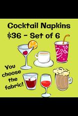 PD Set of 6 Cocktail Napkins