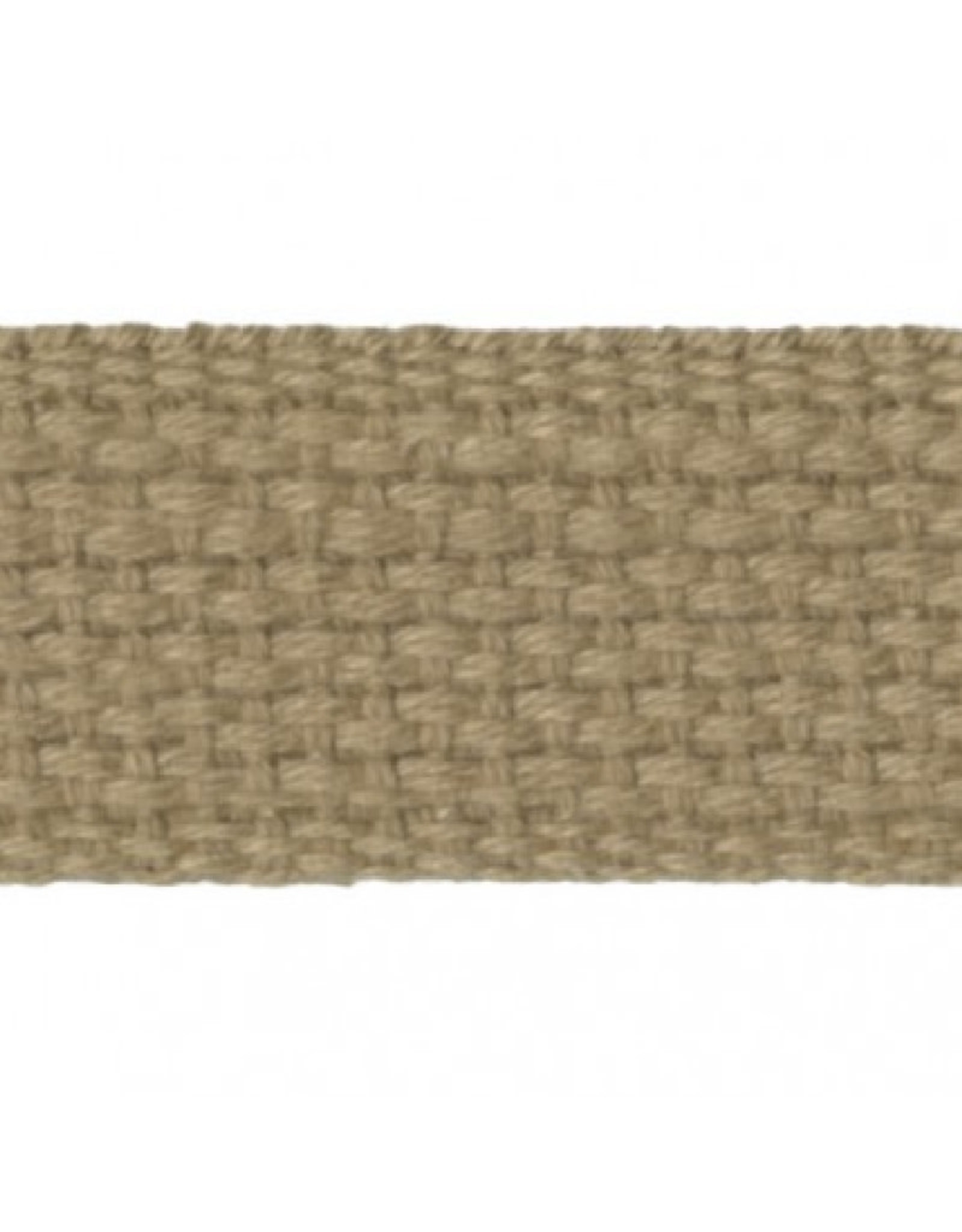 """Checker Tan Cotton Webbing Strapping 1"""" wide, by the yard"""