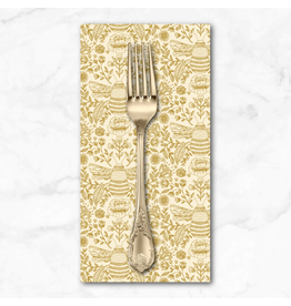 PD's RJR Collection Summer in the Cotswolds, Bee's Knees in High Noon with Gold Metallic,  Dinner Napkin
