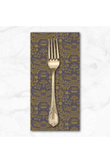 PD's RJR Collection Summer in the Cotswolds, Bee's Knees in Twilight with Gold Metallic, Dinner Napkin