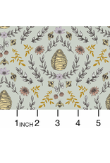 PD's RJR Collection Summer in the Cotswolds, Beehive in Sage, Dinner Napkin