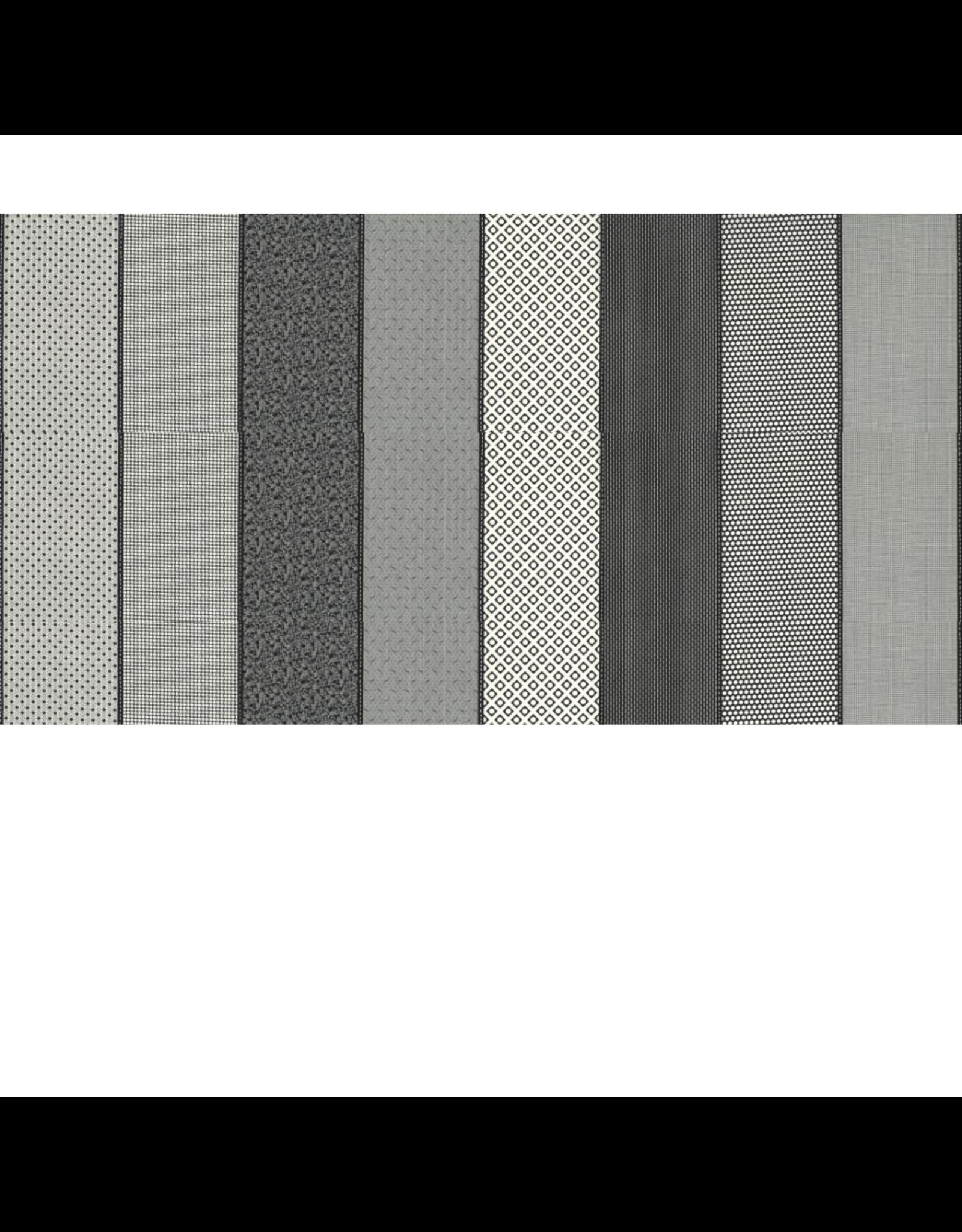 Jen Kingwell Low Volume Lollies in Charcoal, Fabric Half-Yards