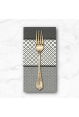 PD's Jen Kingwell Collection Low Volume Lollies in Charcoal and Ivory, Dinner Napkin