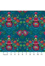 PD's Odile Bailloeul Collection MagiCountry, Mini Flower Fairies in Blue, Dinner Napkin