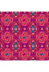 Odile Bailloeul MagiCountry, Mini Gecko in Plum, Fabric Half-Yards