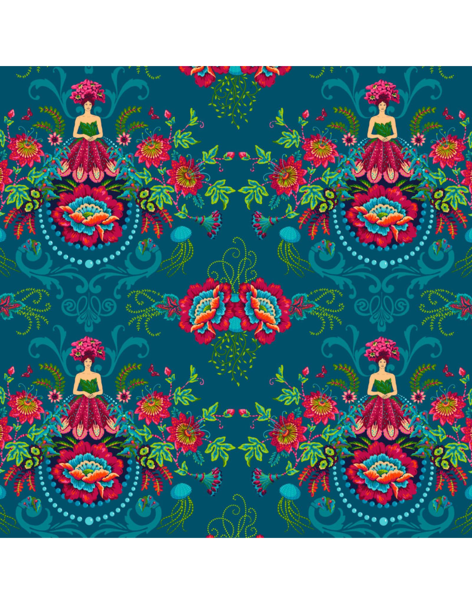 Odile Bailloeul MagiCountry, Mini Flower Fairies in Blue, Fabric Half-Yards