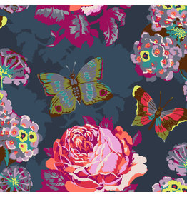 Anna Maria Horner Love Always AM, Clippings in Charcoal, Fabric Half-Yards