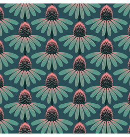 Anna Maria Horner Love Always AM, Echinacea in Dim, Fabric Half-Yards
