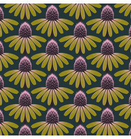 Anna Maria Horner Love Always AM, Echinacea in Seaweed, Fabric Half-Yards