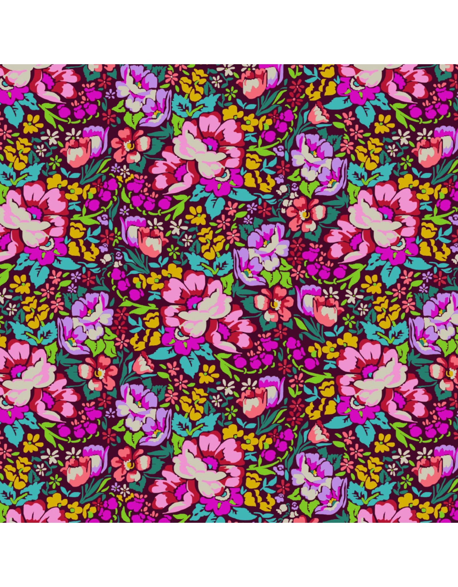 Anna Maria Horner Love Always AM, Overachiever in Burgundy, Fabric Half-Yards