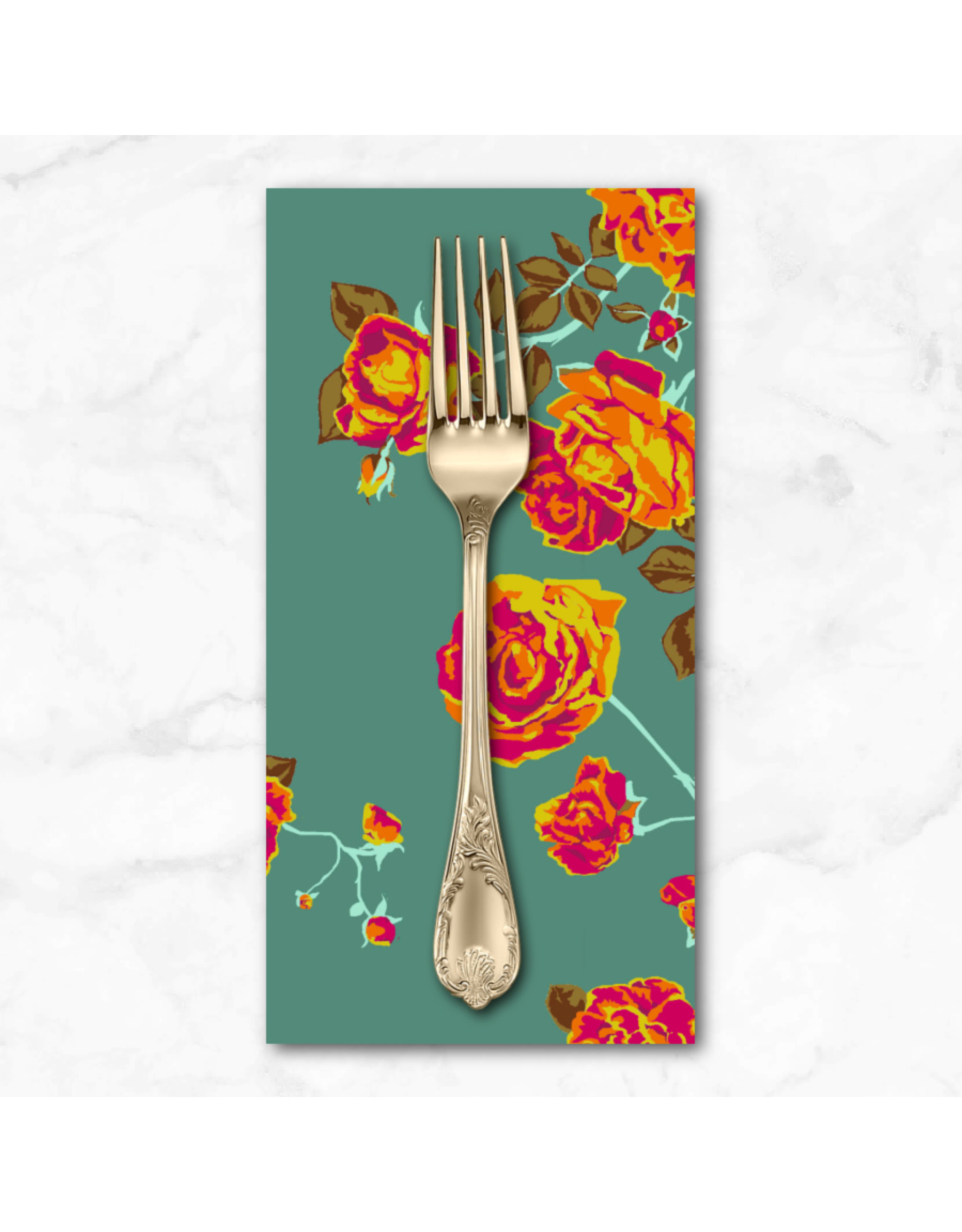 PD's Anna Maria Horner Collection Love Always AM, Social Climber in Teal, Dinner Napkin