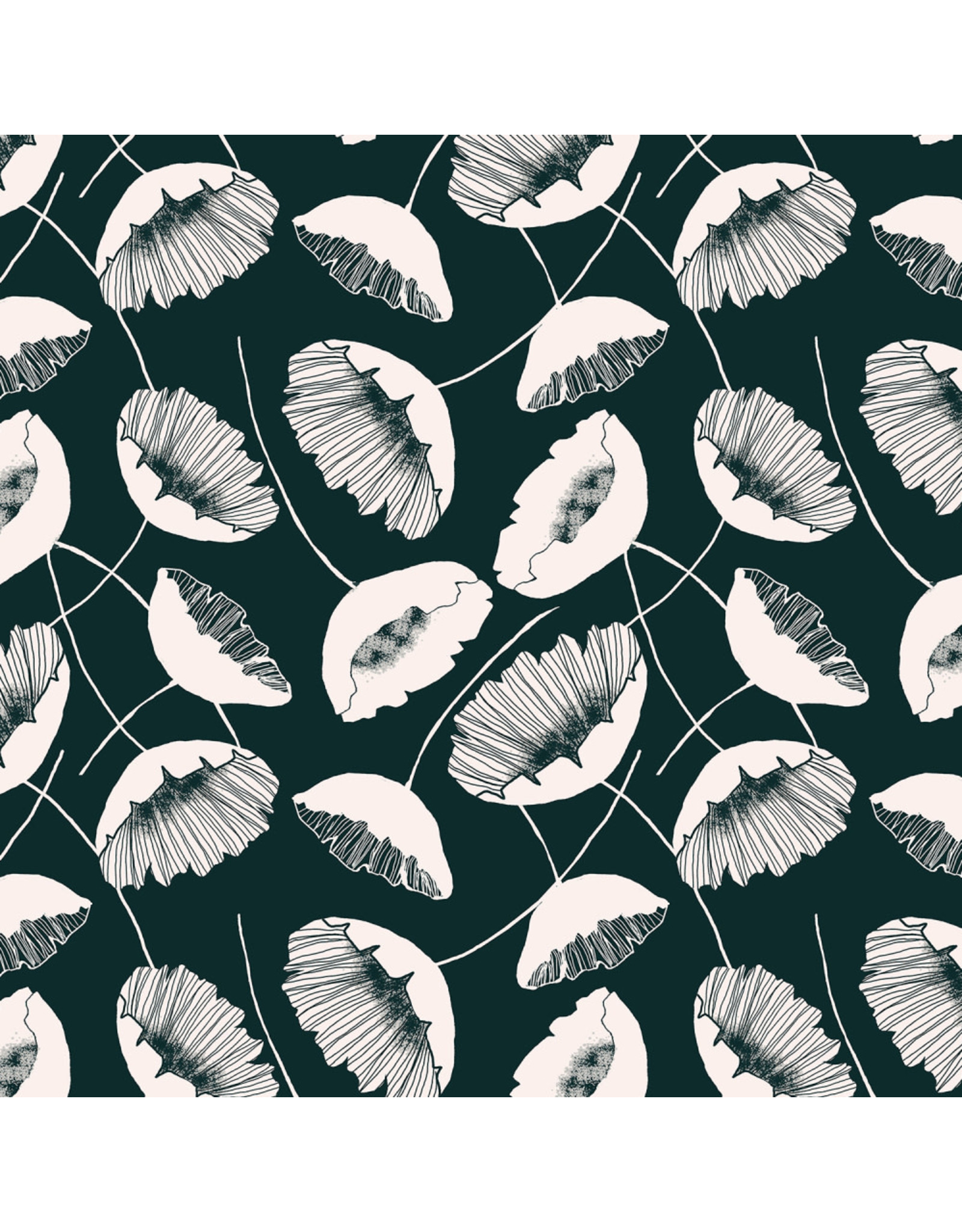 RJR Fabrics Magical Night, Lancaster Fields in Dark Forest, Fabric Half-Yards