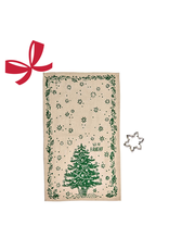 Moda Jolly Dish Towel with Cookie Cutter, Green