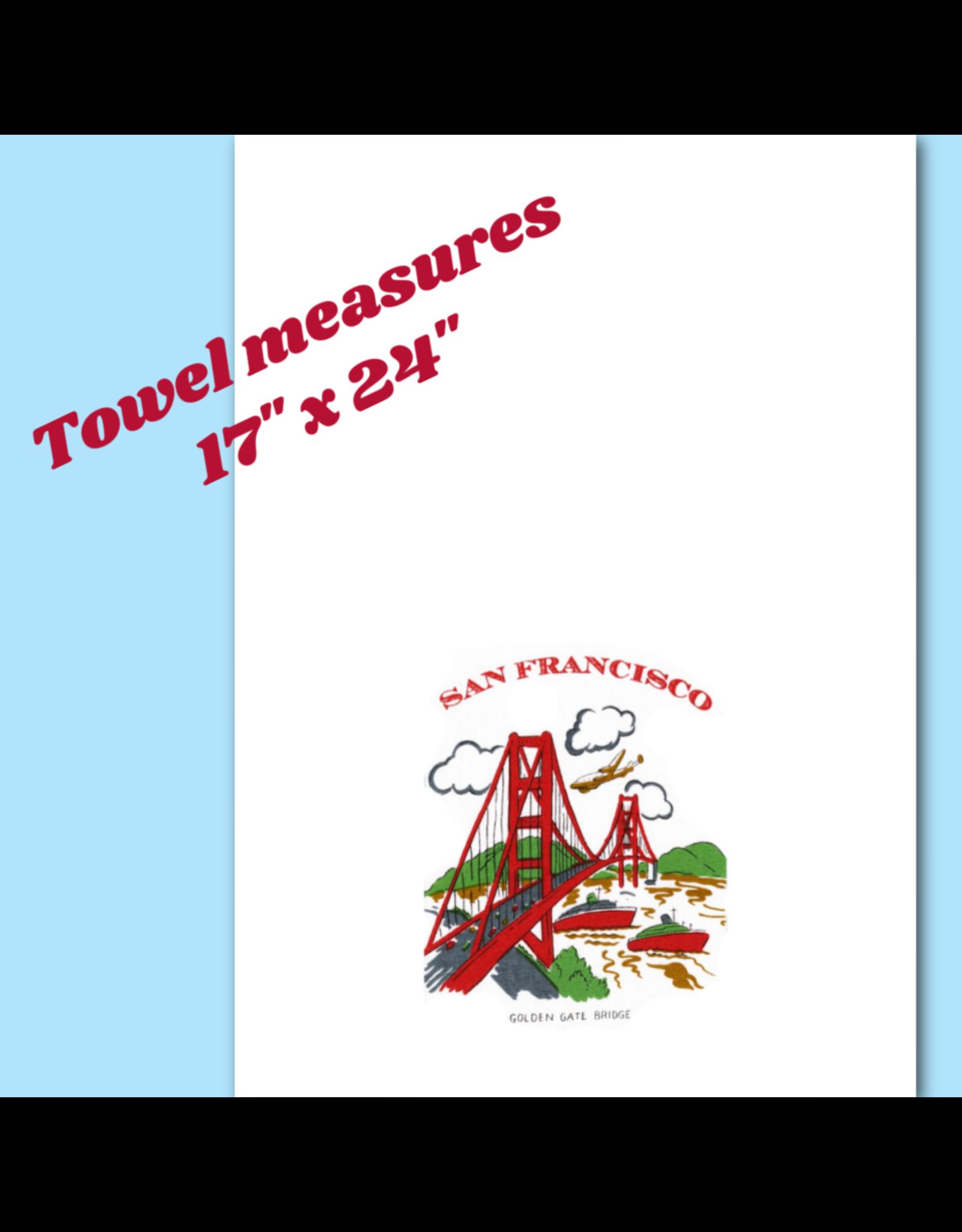 "Red & White Kitchen Co. San Francisco Golden Gate Kitchen Towel 17"" x 24"""