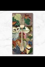 PD's Alexander Henry Collection Fall Harvest, Harvest Owl in Mushroom, Dinner Napkin