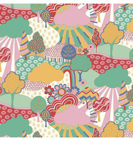 Liberty Fabrics Liberty The Carnaby Collection, Sunny Afternoon in Bohemian Brights, Fabric Half-Yards