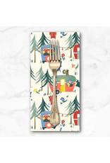 PD's Michael Miller Collection Camping Life, Camp Grounds in Cream, Dinner Napkin