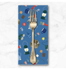PD's Michael Miller Collection Camping Life, Camping Gear in Blue, Dinner Napkin