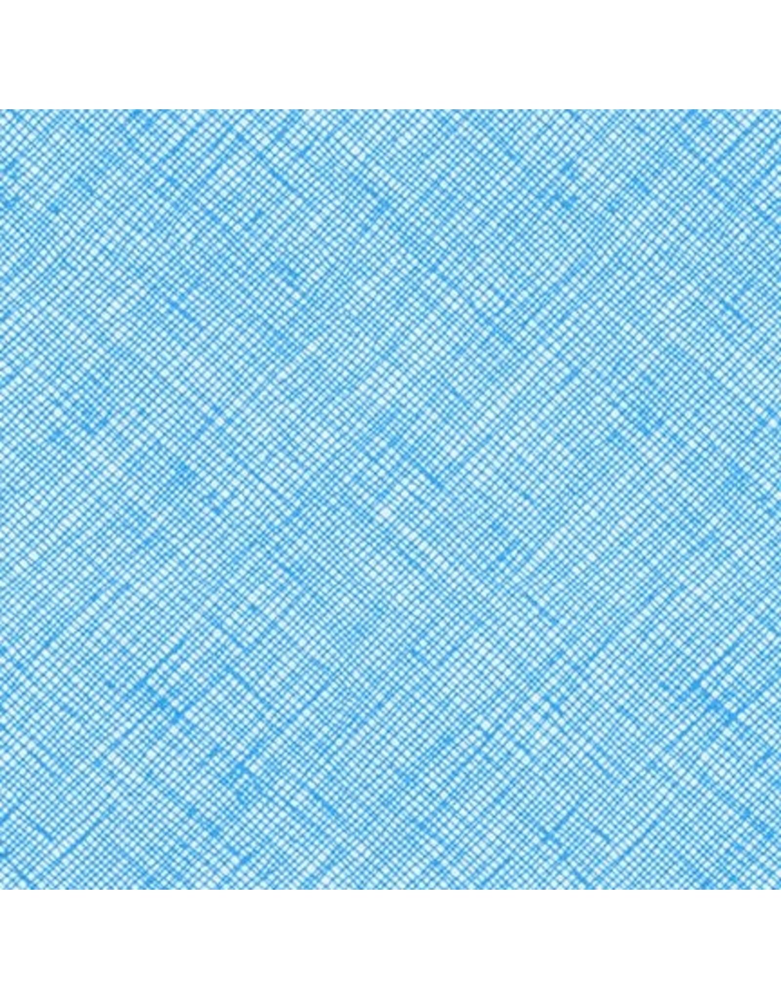 Carolyn Friedlander Architextures, Crosshatch in Paris Blue, Fabric Half-Yards