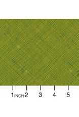 Carolyn Friedlander Architextures, Crosshatch in Leaf, Fabric Half-Yards