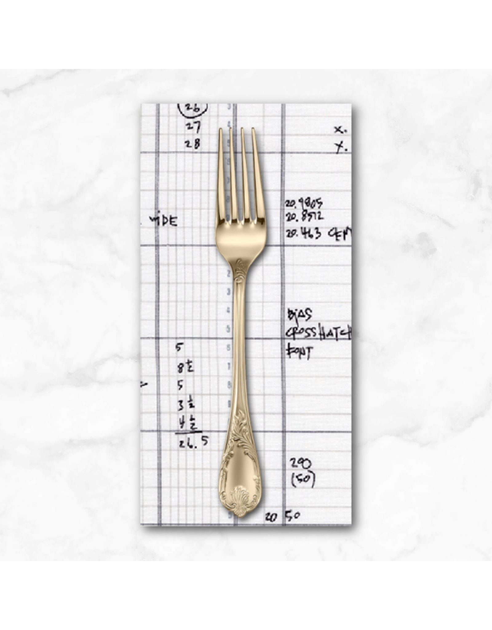 PD's Carolyn Friedlander Collection Architextures, Schematic Ledger in Grey, Dinner Napkin