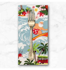 Christmas Collection Christmas Time, Surfin' Santa in Bright, Dinner Napkin