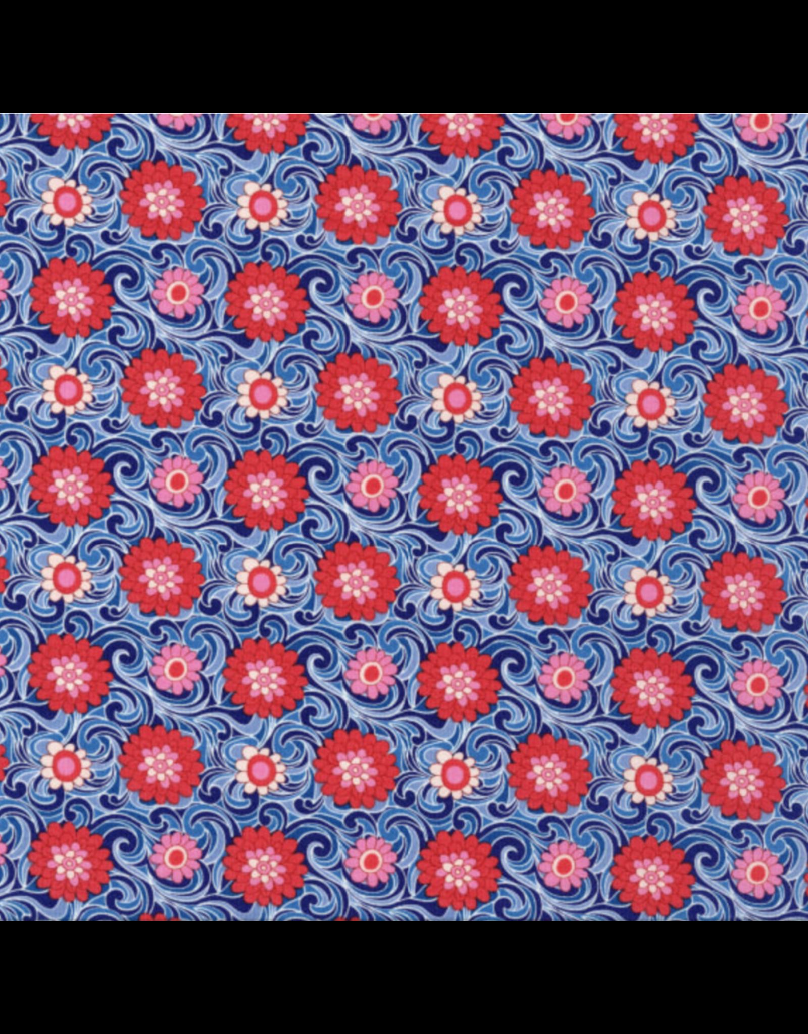 Liberty Fabrics Liberty The Carnaby Collection, Carnation in Retro Indigo, Fabric Half-Yards