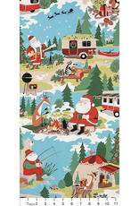 Christmas Collection Christmas Time, Santa Goes Glamping in Multi, Dinner Napkin