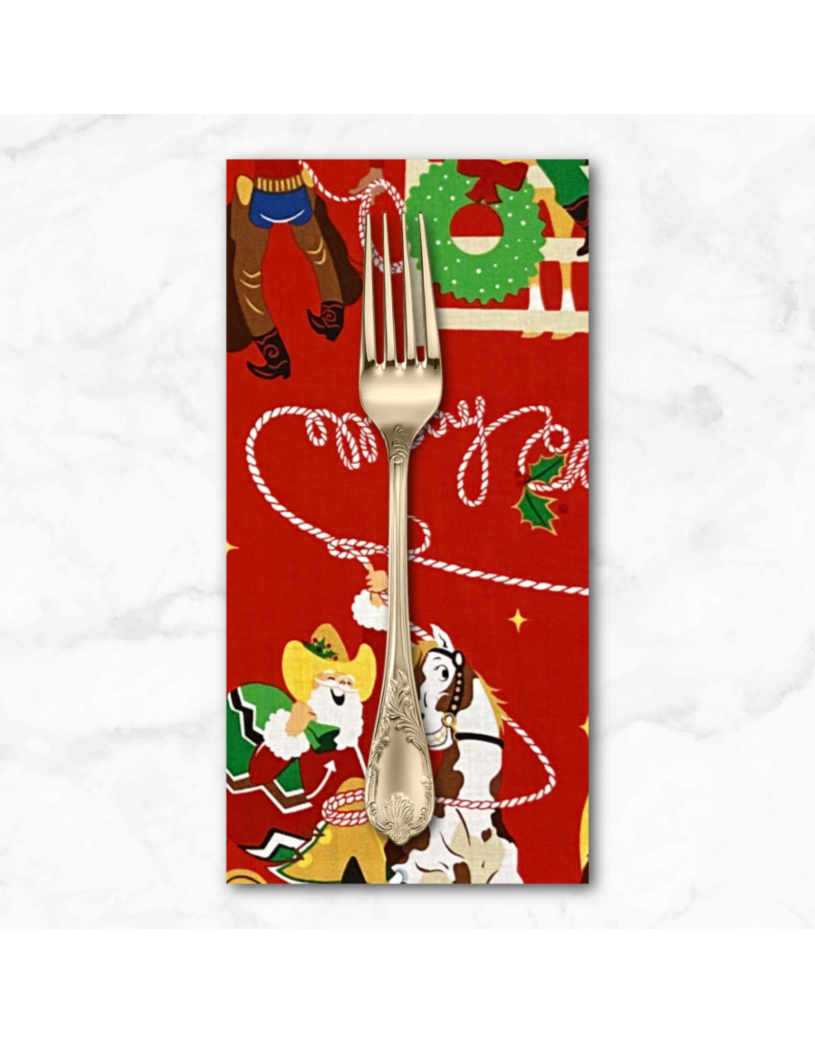 Christmas Collection Christmas Time, Giddy-Up Santa in Red, Dinner Napkin
